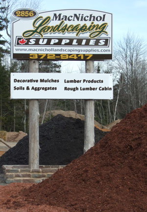 MacNichol Landscaping Supplies Sign