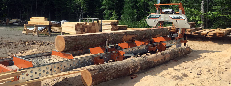 Milling Timber in Moncton Area